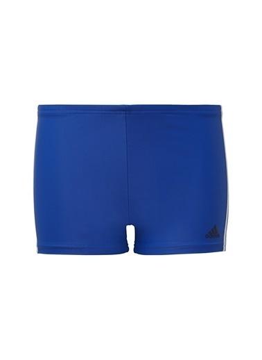 adidas Adidas Erkek Çocuk Mavi Çizgi Detaylı Şort Mayo Mavi